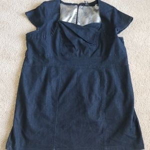 Lane Bryant dark wash denim dress size 28